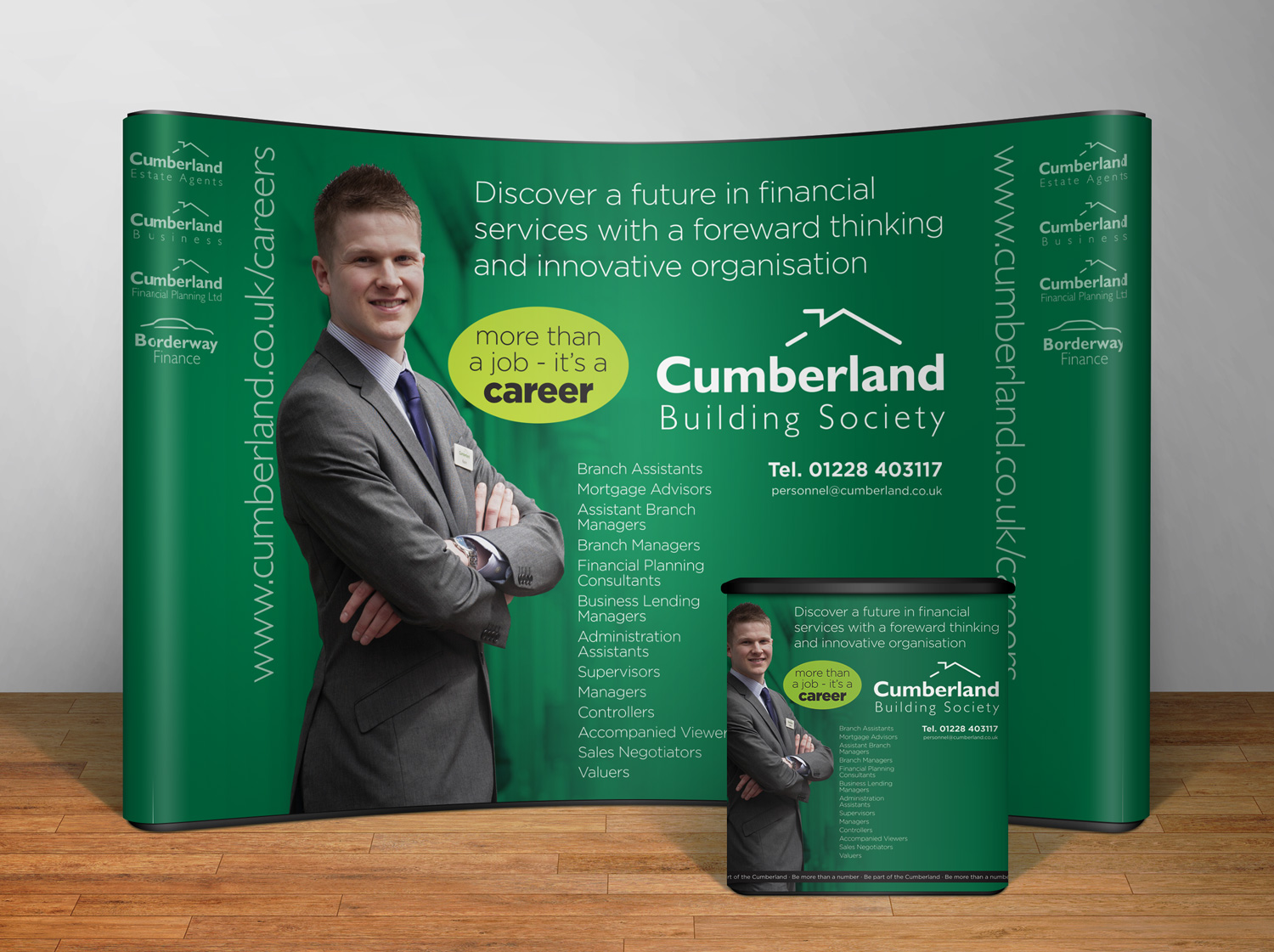 Exhibition display design The Cumberland Recruitment