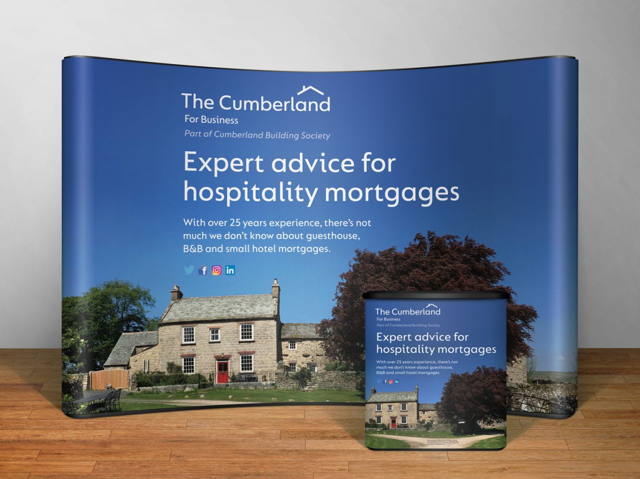 Exhibition display design The Cumberland for Business