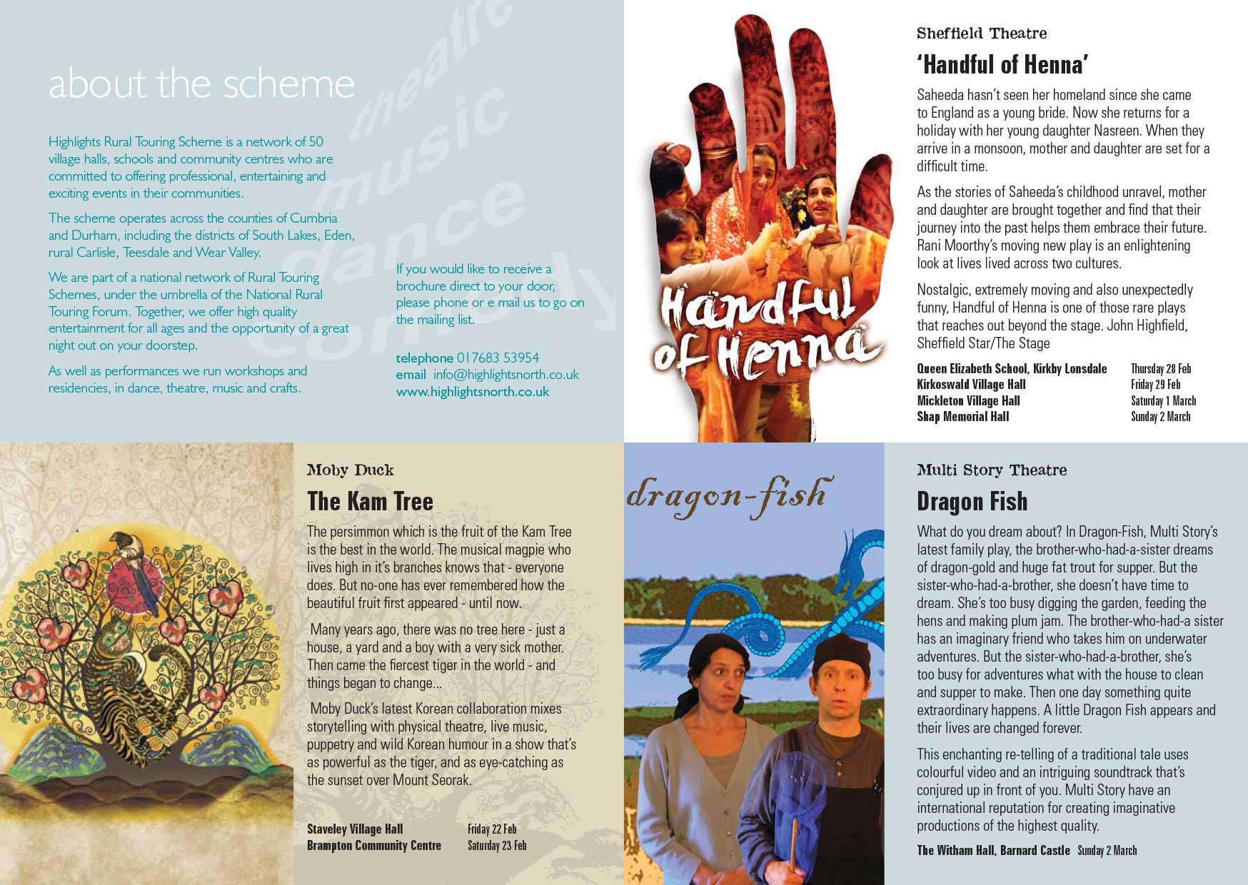 Brochure design - Highlights - inside spread
