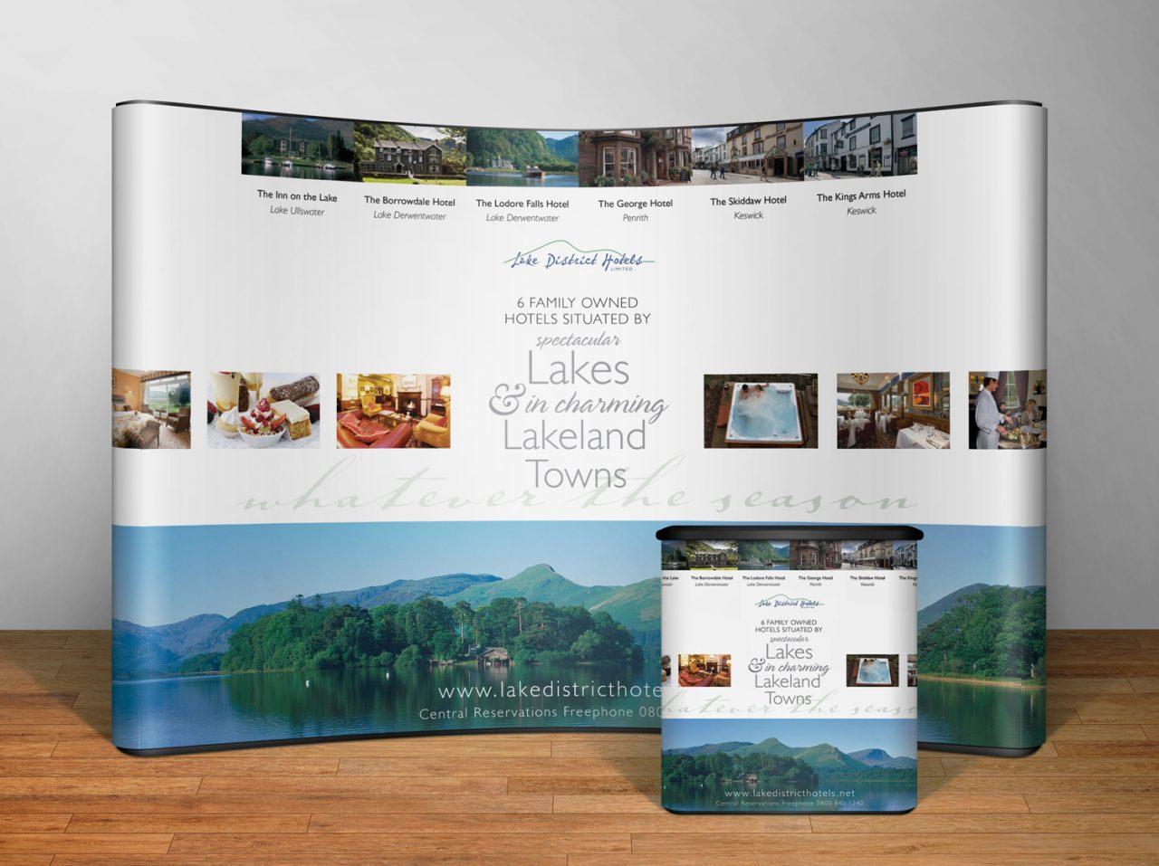 Exhibition display design Lake District Hotels