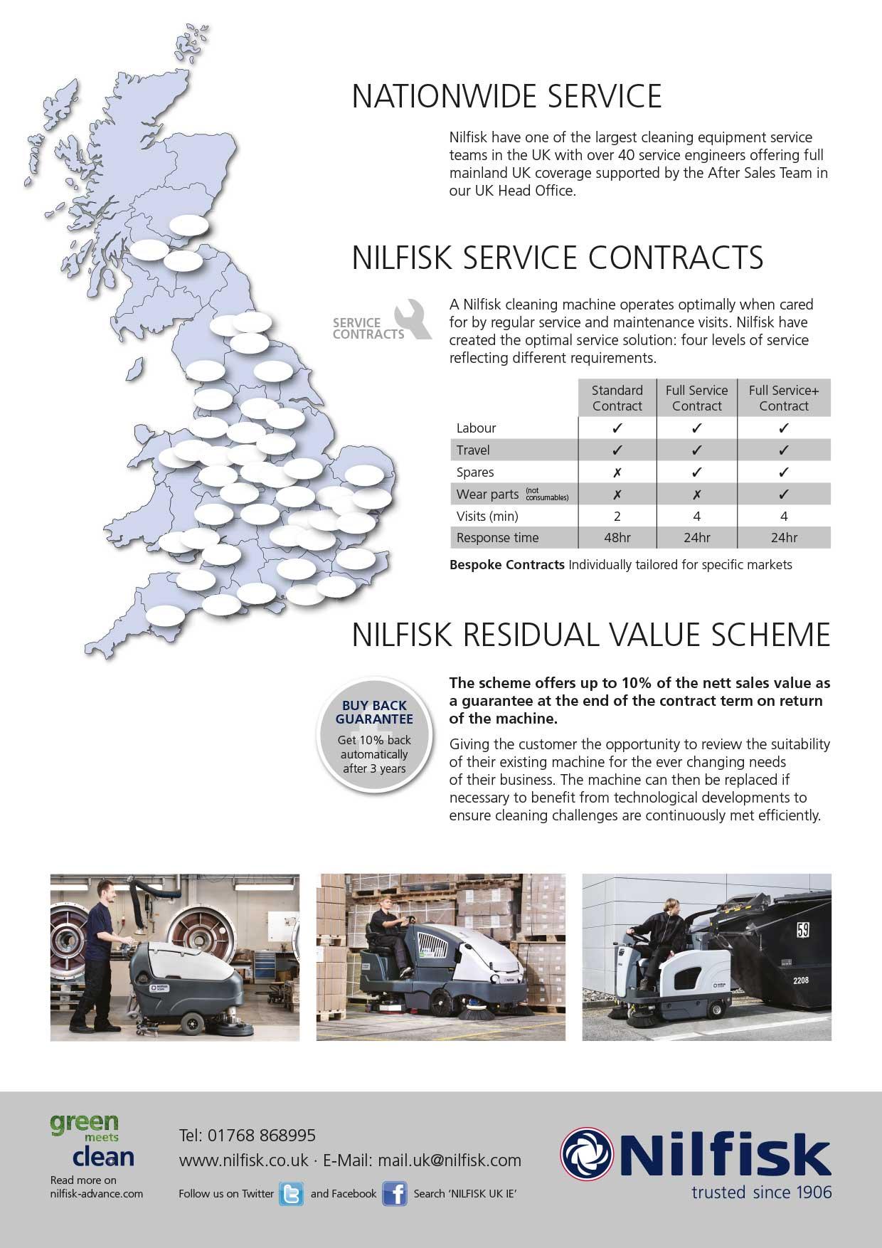 Nilfisk leaflet design back page