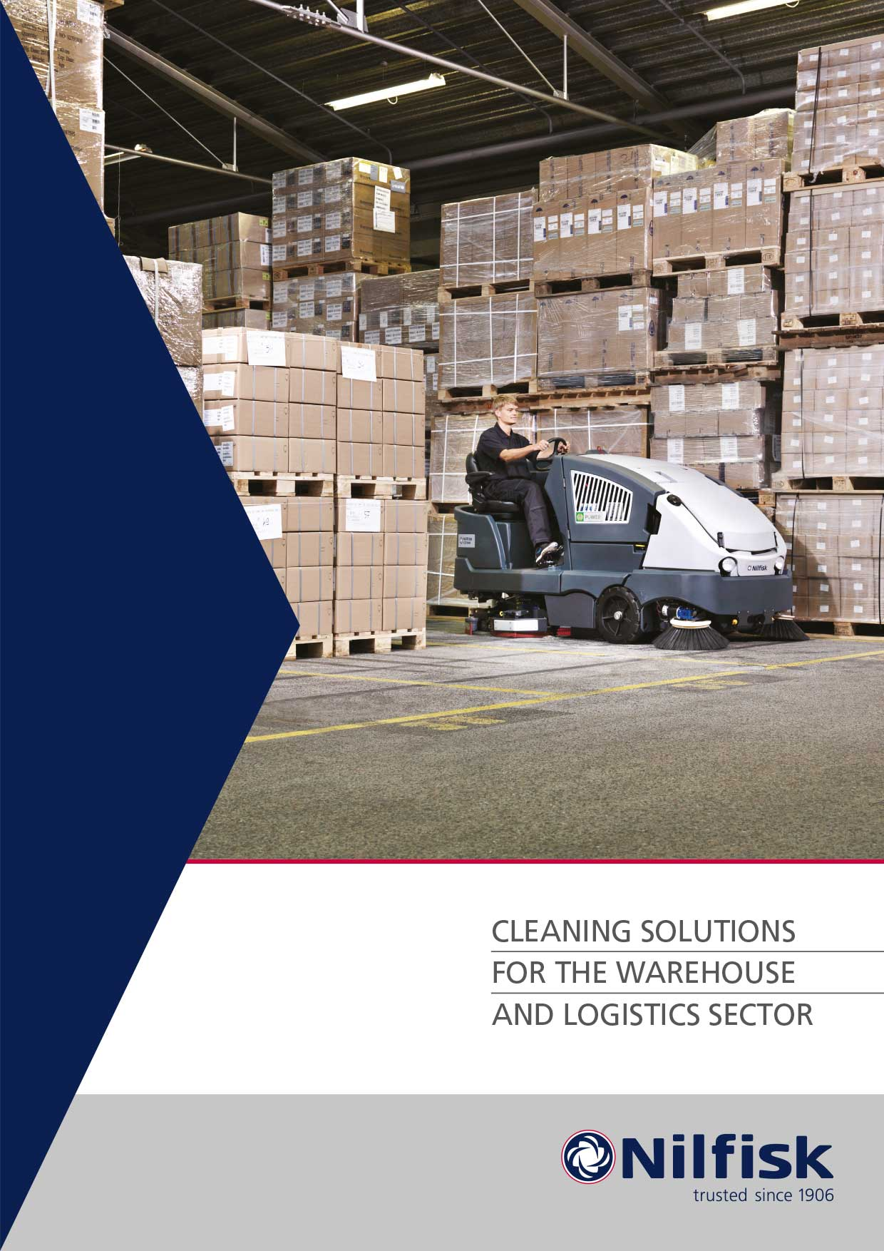 Nilfisk leaflet design - warehouse segment - front cover