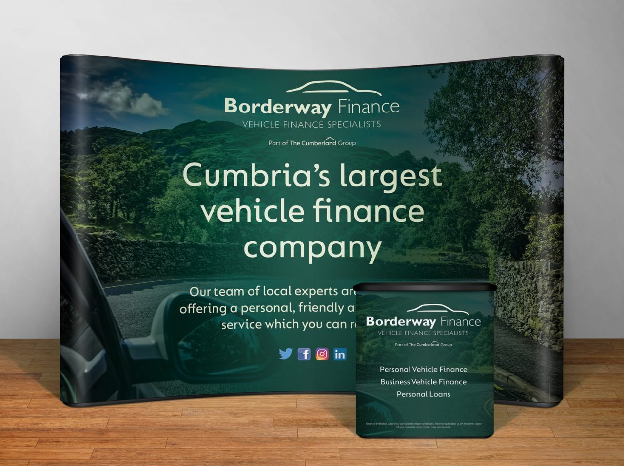Exhibition design Borderway Finance