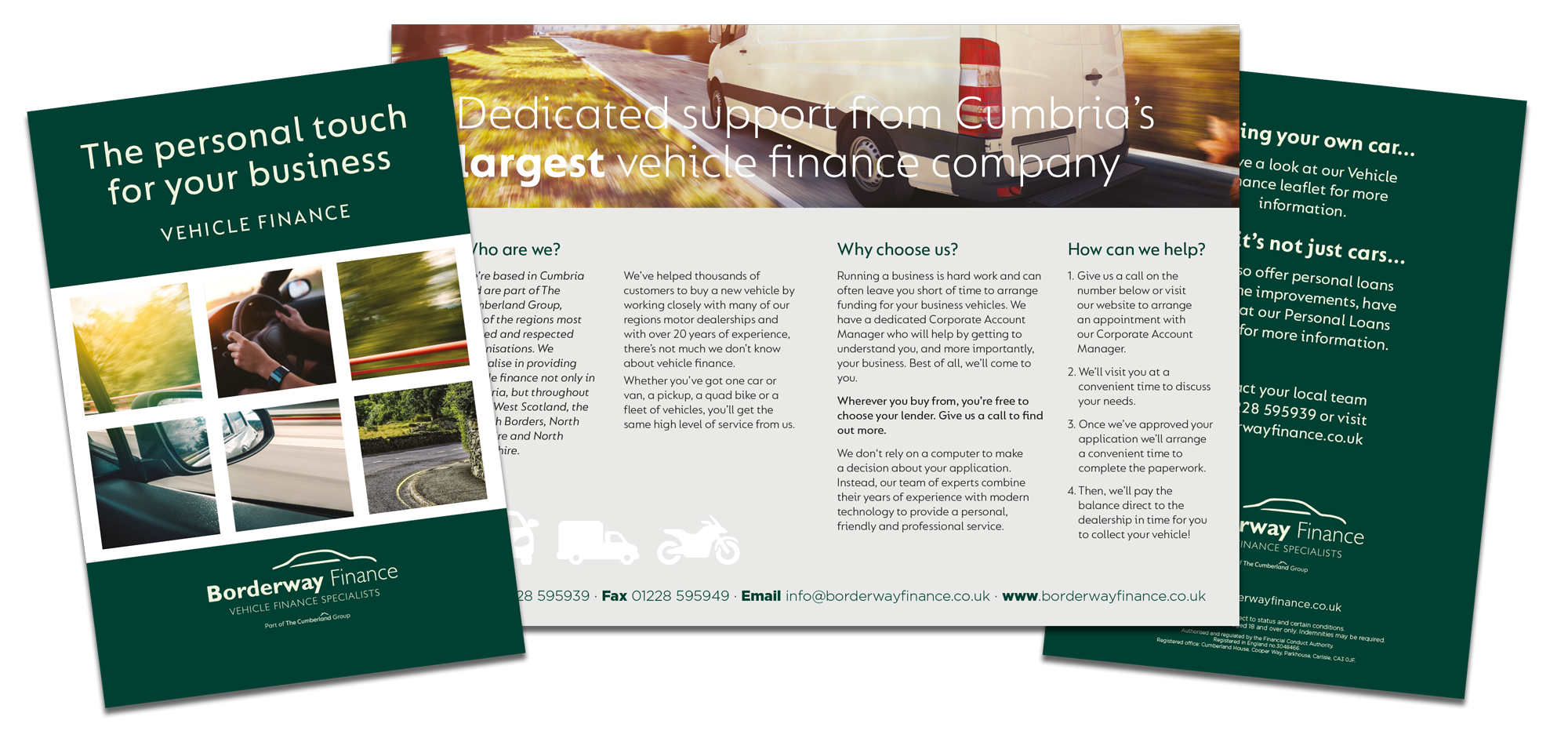 Leaflet Design 4ppA5 - Borderway Finance