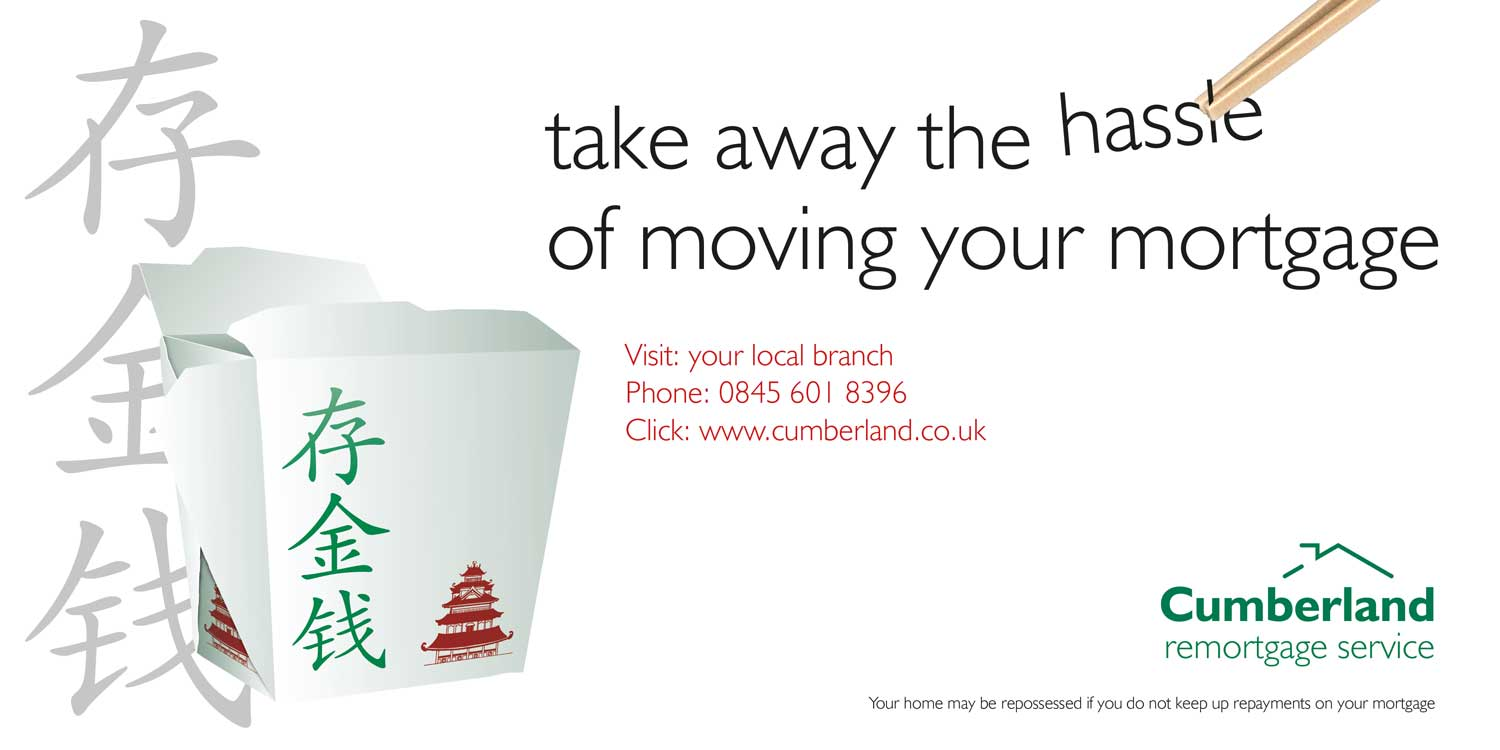 Advert design - The Cumberland - remortgage