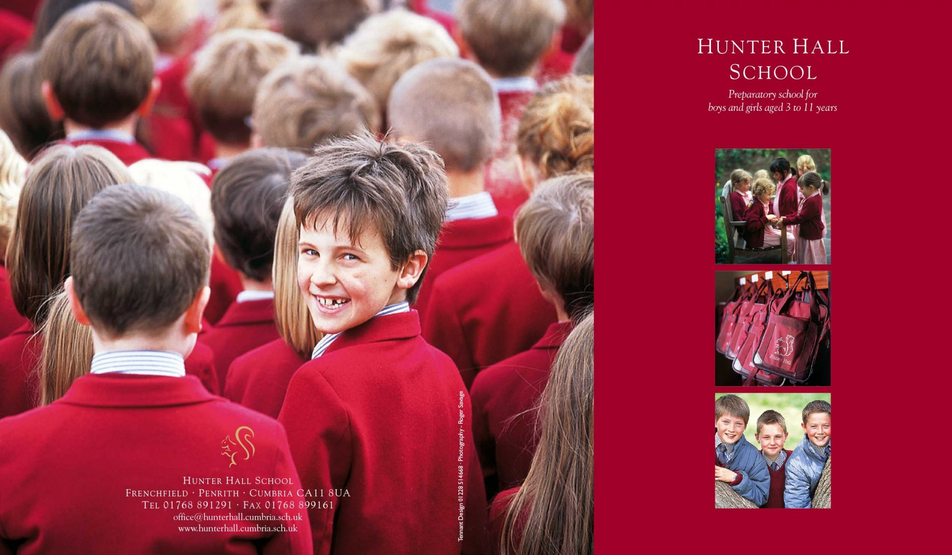 School Prospectus design - Hunter Hall - front cover