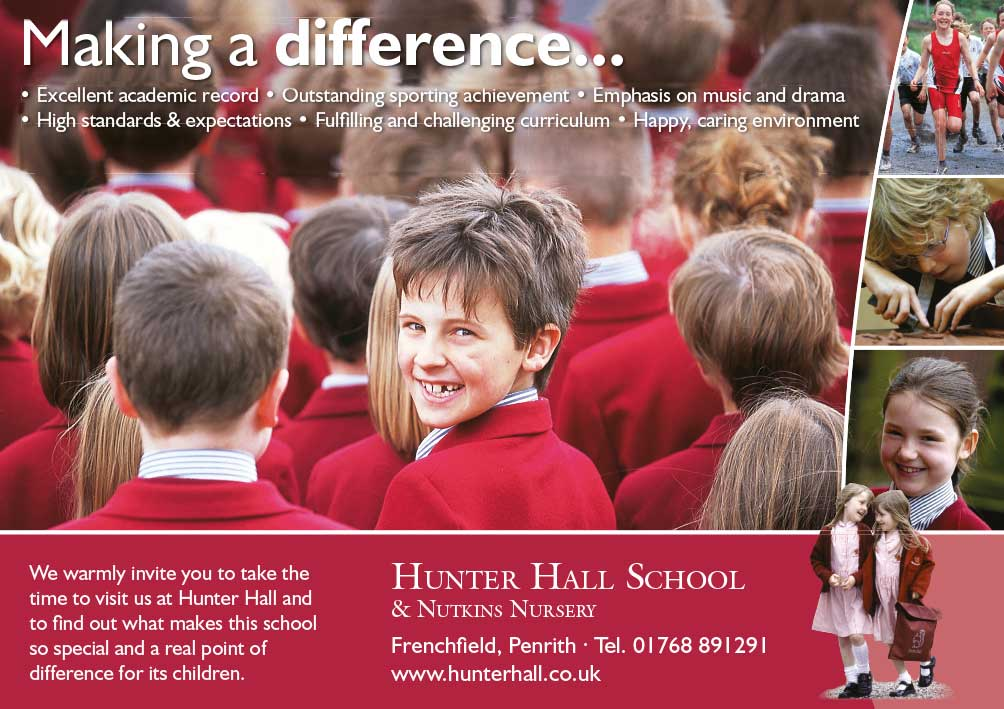 Advert design - Hunter Hall School