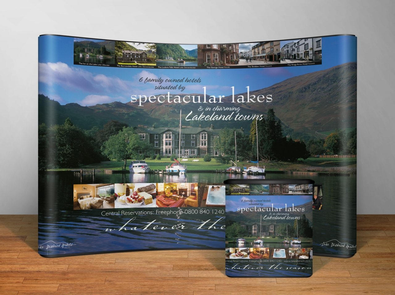 Exhibition design Lake District Hotels