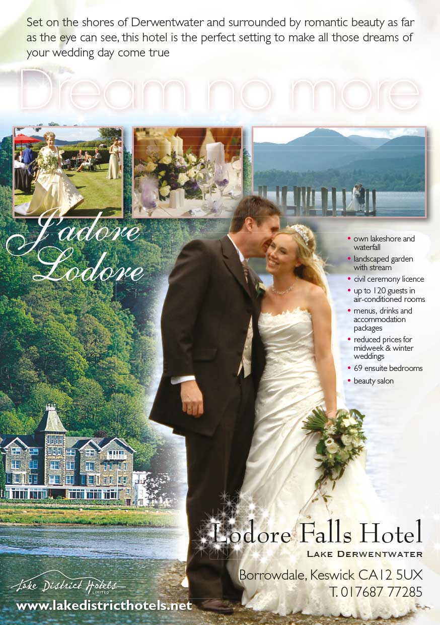 Advert design - Lake District Hotels - weddings