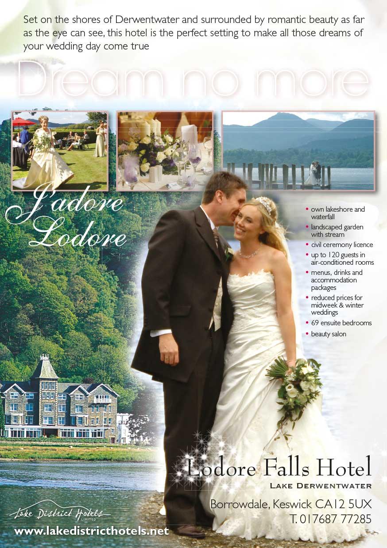 Advert design - Lake District Hotels - weddings