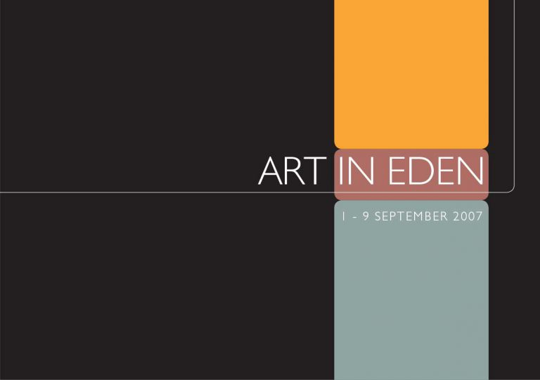 Brochure design Eden Arts front cover