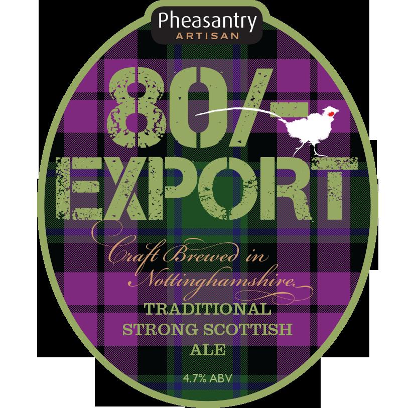 80/- design - The Pheasantry Brewery
