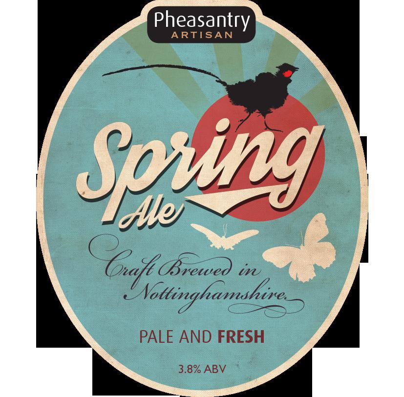 Pump clip design - Pheasantry Brewery - Spring Ale