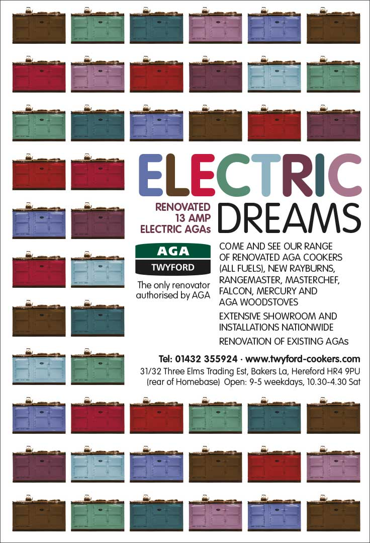 Advert design - AGA Twyford - Electric Dreams