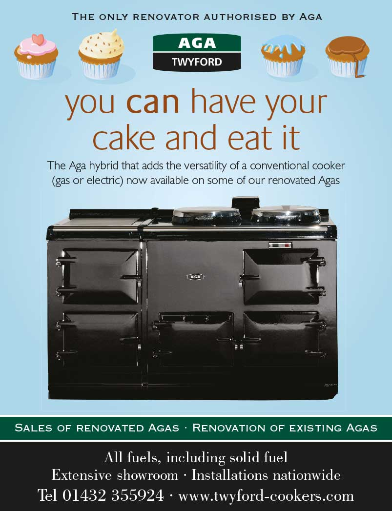 Advert design - AGA Twyford - cake