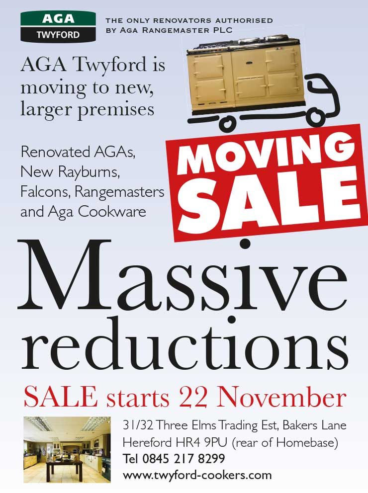 Advert design - AGA Twyford - Moving Sale