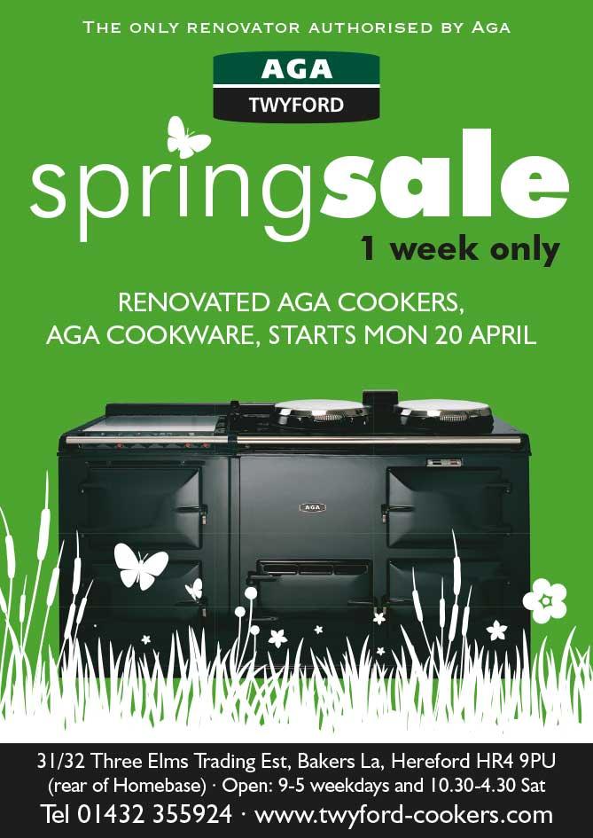 Advert design - AGA Twyford - Spring Sale