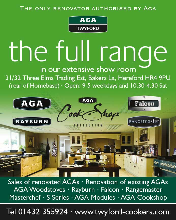Advert design - AGA Twyford - the full range