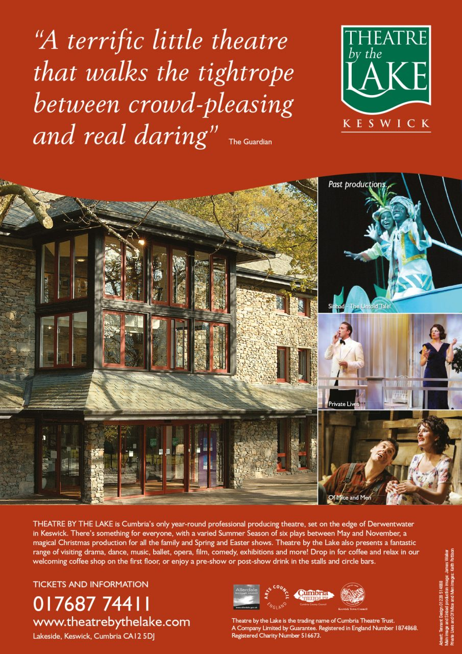 Advert design - Theatre by the Lake Keswick advertising