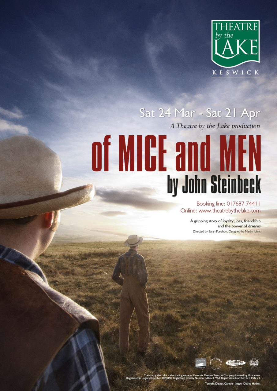 Flyer design - Theatre by the Lake - Of Mice and Men