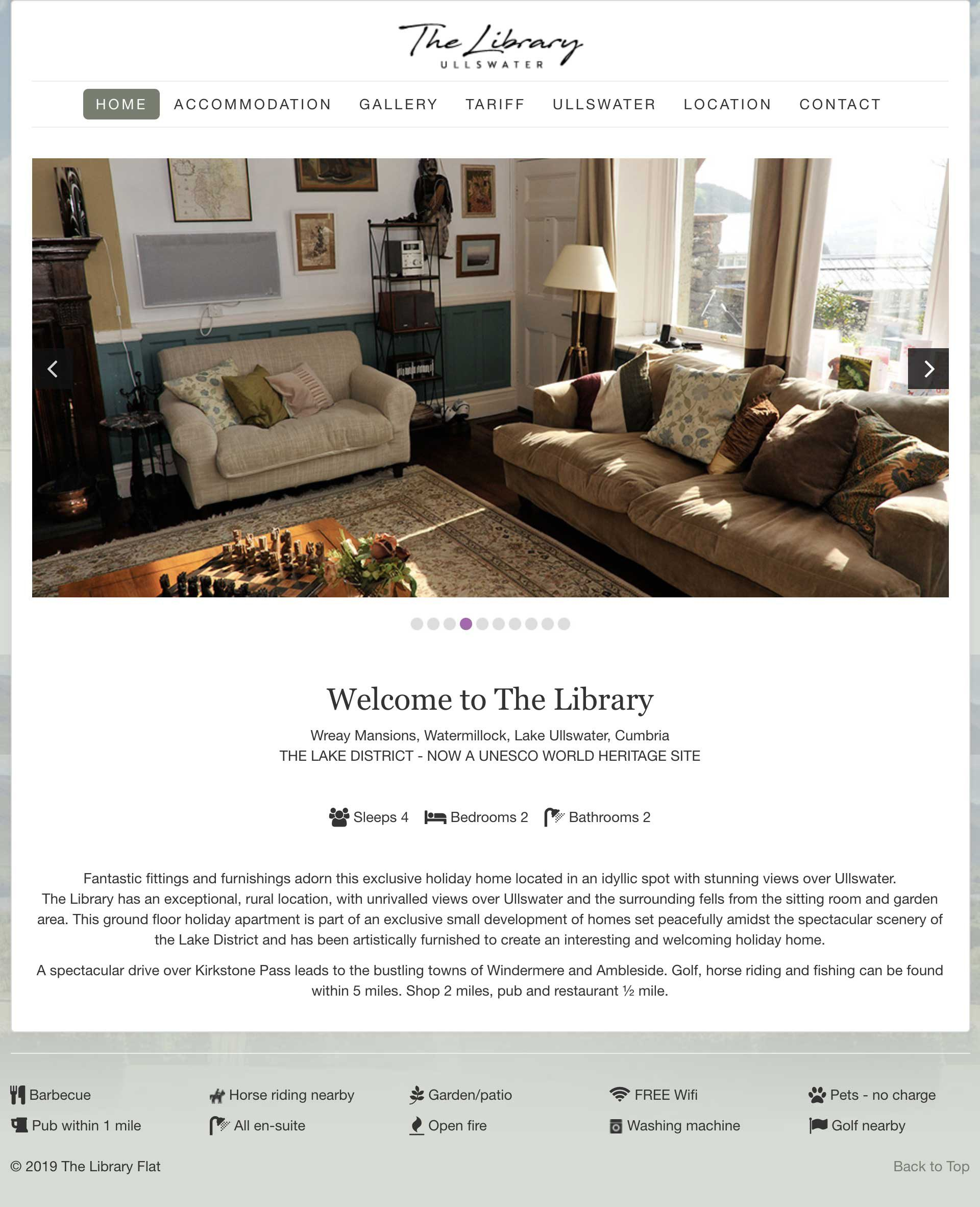 website design - The Library